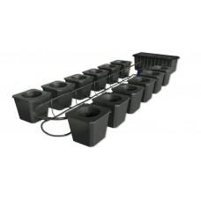 12-Site Bubble Flow Bucket Hydroponic System