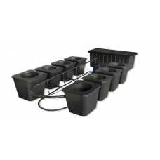 8-Site Bubble Flow Bucket Hydroponic System