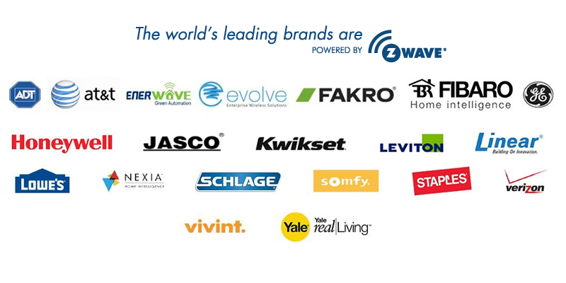 Brands Powered By Z-Wave